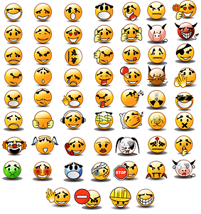 Set of Emoticons vector