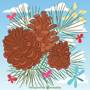 Векторне зображення: Pine cone