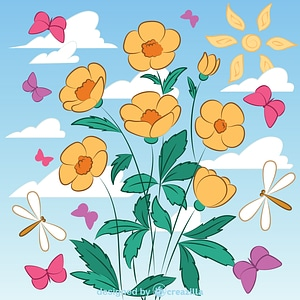 Wildflower vector