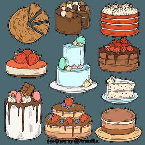 Set of cake vector