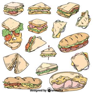 Set of sandwich vector