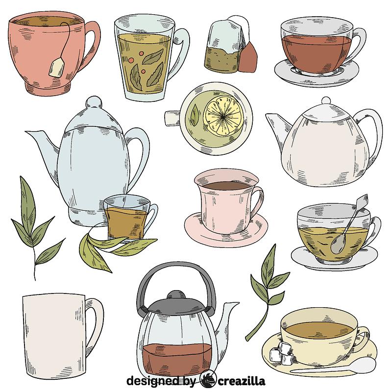 set of tea vector free download creazilla https creazilla com pages 4 license information