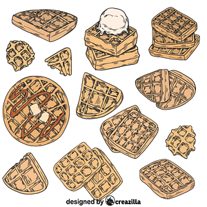Set of waffle vector
