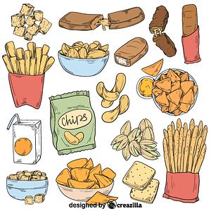 Set of snack vector