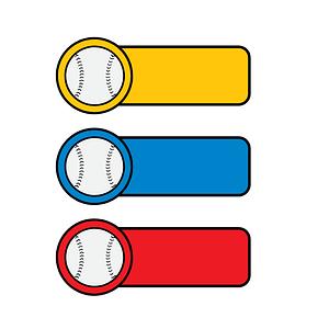 Baseball Stickers vector