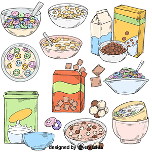 Set of cereal vector