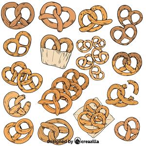 Set of pretzel vector