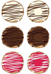 Set of Donuts vector