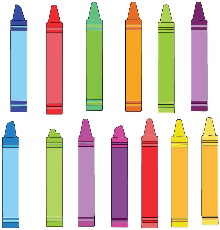 Set of Crayons vector