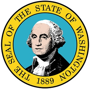 The Seal of the State of Washington 1889 vector