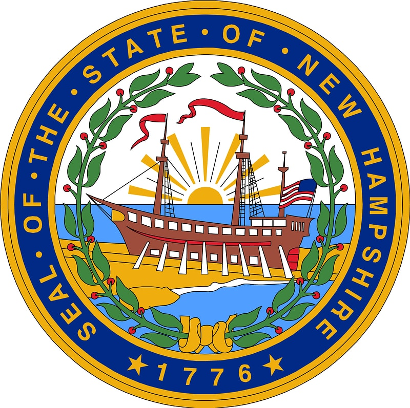 The Seal of State of New Hampshire 1776 Label vector