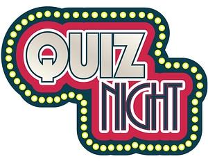Quiz Night Neon Sign Label vector