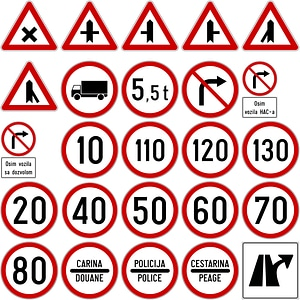 Road Signs in Croatia vector