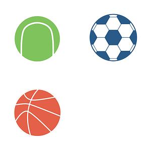 Set of Balls Icons vector