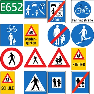 Road Signs in Austria vector