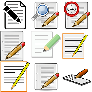 Set of Notepad Icons vector