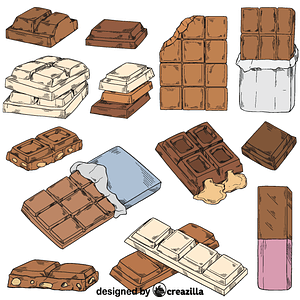 Set of chocolate vector