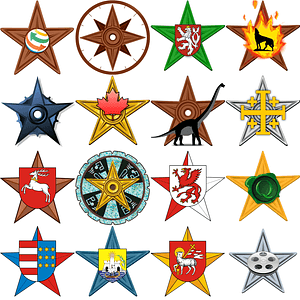 Set of Barnstars Icons vector