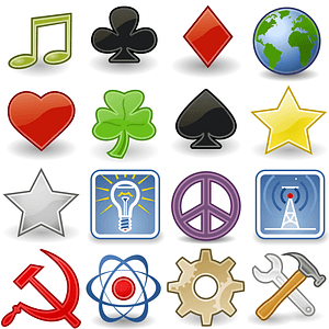 Emblems Icons vector