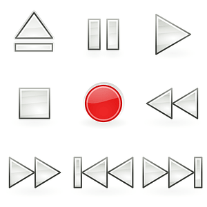 Media Play Buttons Icons vector