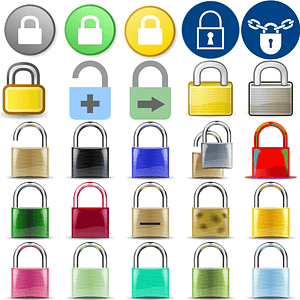 Padlocks Icons vector