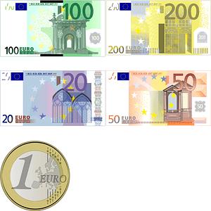 Set of Euro Banknotes vector