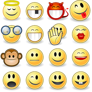 Set of Faces Smilies Icons vector