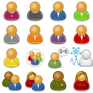 Set of Persons Users Icons vector