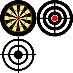 Targets Icons vector