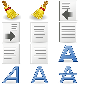 Text Format Icons vector