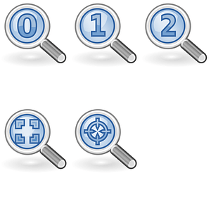 Zoom Icons vector