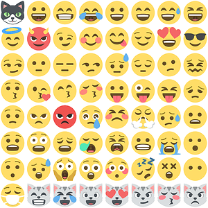 +80 Emoji One Smilies vector