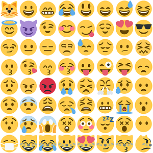 65 Twemoji Smilies vector