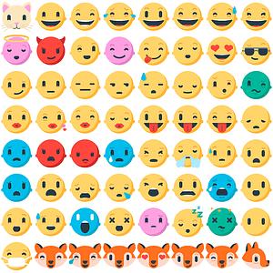 70 Firefox Emoji s vector