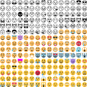 250 Emoji Smilies vector