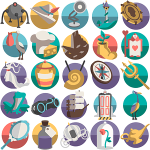 Fairy Tales Icons vector