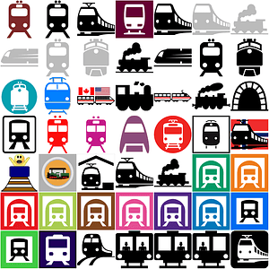 Set of Train Icons vector