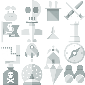 Adventure Icons vector