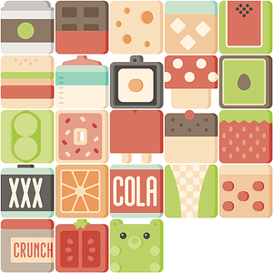 Food Cubies Icons vector