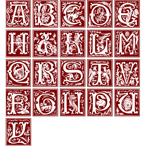 Ornamental Alphabet of the 16th Century vector