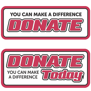 Donate Banners vector