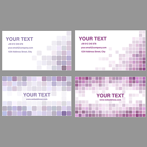 Set of Business Handyman Cards with Tiles vector