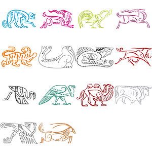 Set of Logo Templates with Animals vector