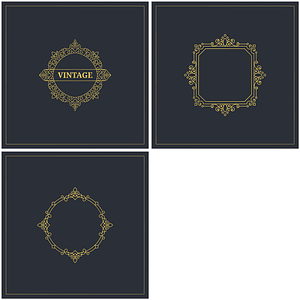 Stylish Tags with Frame vector
