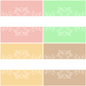 Floral Wedding Backgrounds vector