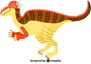 Pachycephalosaurus vector