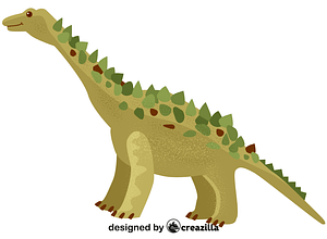 Titanosaur vector
