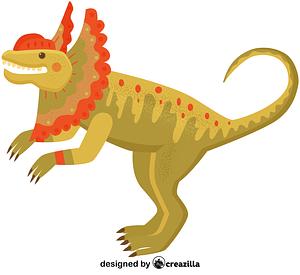 Dilophosaurus vector
