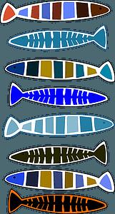 Set of Aboriginal Fish vector