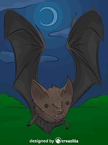 Little brown bat vector